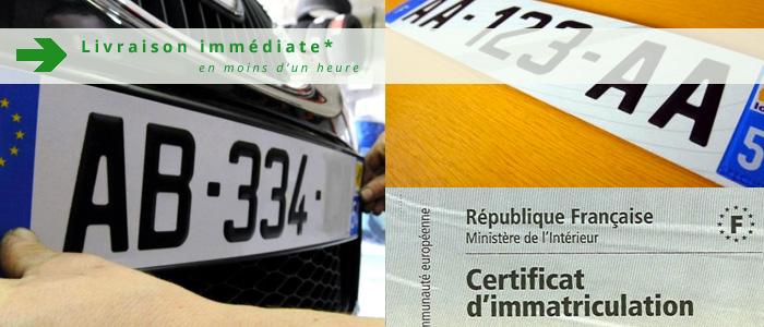 création immatriculation - pose des plaques